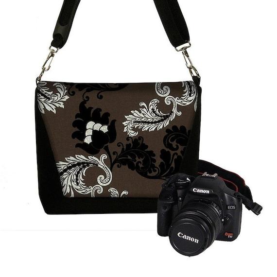 Deluxe DSLR Camera Lens Bag Case zipper pocket more padding - Viveinne Damask