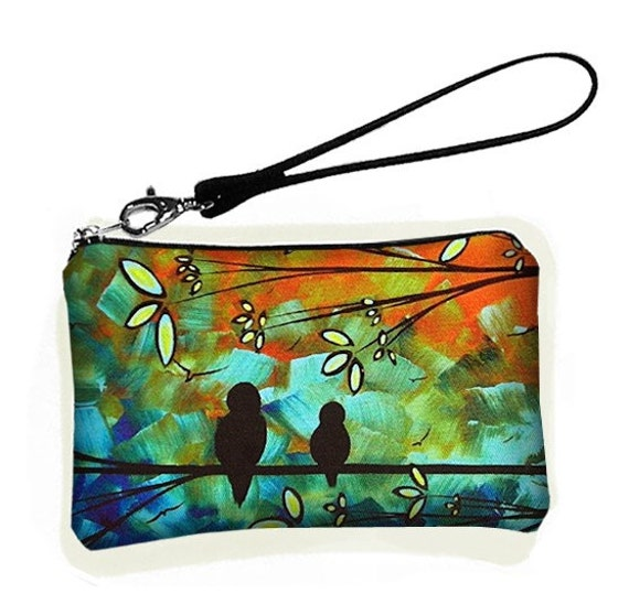 Petite Wristlet clutch bag small padded purse fits Droid  X - Exclusive Artist - ON SALE reg 25