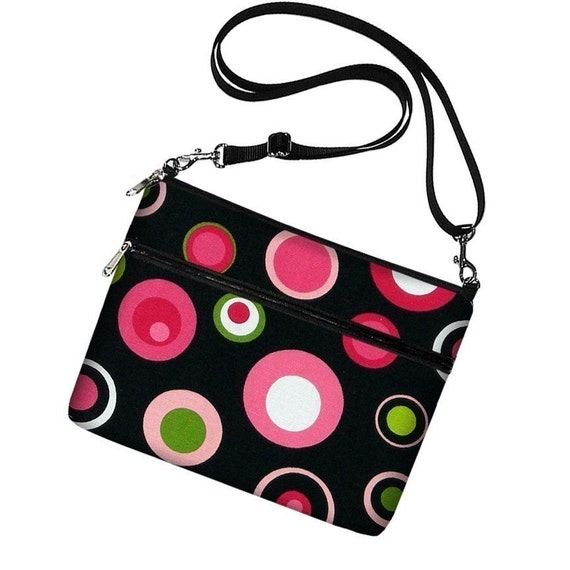 LAST ONE - iPad Case iPad Cover iPad Sleeve Ipad Bag Ipad 3 Ipad 2 Ipad 1 adjustable shoulder strap - Mod Dot Pink (RTS)