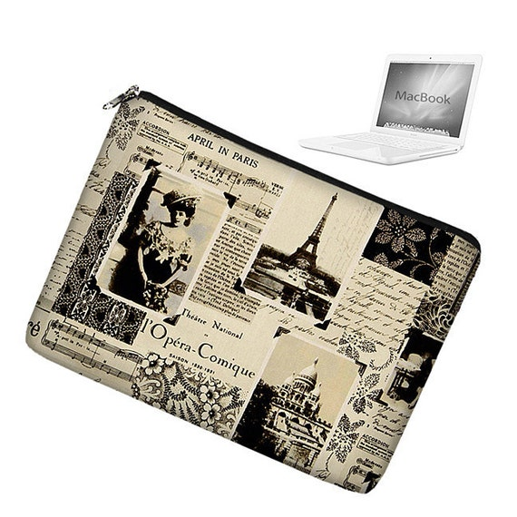 17 inch Laptop Sleeve MacBook Pro 17 inch Laptop Bag MacBook Case - April in Paris Eiffel Tower (RTS)