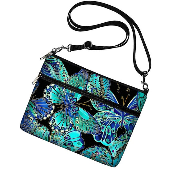 Reserved for Debbie - iPad Case iPad Cover Ipad Bag iPad Sleeve Ipad Air 1 2 3 4  long  shoulder strap Butterfly blue green purple (MTO)