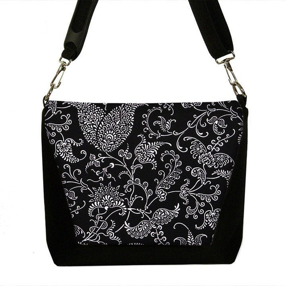 SALE Digital SLR Camera Bag Dslr Camera Bag Purse Womens Camera Bag Case - Pretty Paisley black white (RTS)