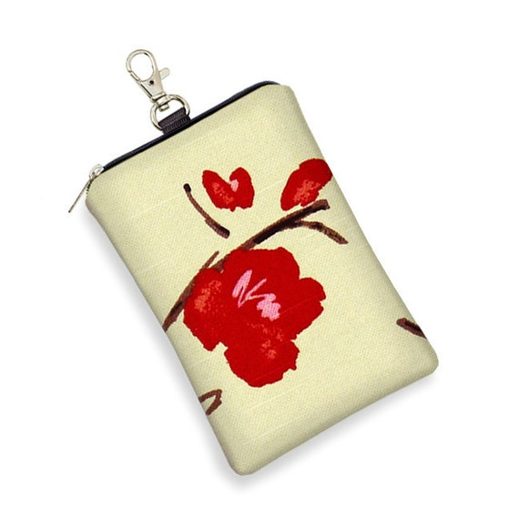 SALE iPhone 5 Case iPhone 4 Case Large Cell Phone Case iPhone Cover iPod Case - Asian Cherry Blossom fabric red pink (RTS)