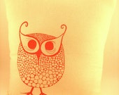 Pink Owl Square Pillow
