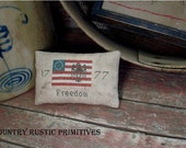 Primitive Freedom 1777 Flag And Eagle Pinkeep Cross Stitch E Pattern PDF