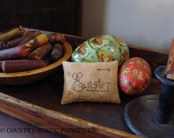 Primitive Easter Pinkeep Cross Stitch E Pattern PDF