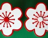 set (2) Custom Cherry Blossom Quilt Clips