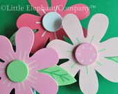 Samantha Pinks Daisy Quilt Clips - set of 3