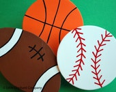set/3 Sports Balls Quilt Clips