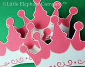 Princess Crown Quilt Clips - set of 3 - LittleElephantCo