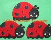 set/3 Felted Ladybug Quilt Clips