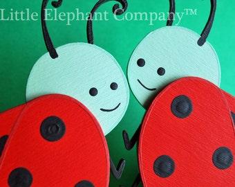 set/2 Whimsical Ladybug Quilt Clips