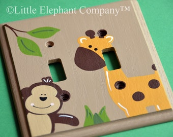 Jungle Double Lightswitch Cover