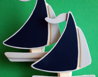 Sail Boat Quilt Clips - Set/2