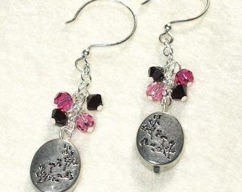 japanese cherry blossom . earrings