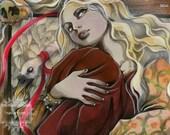 Rapunzel - Fairy Tale - Grimm Brothers - ORIGINAL  Illustration by  Natalia Pierandrei