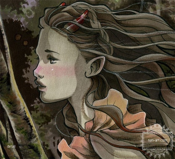 Spring Wind - Archival Giclee MINI Print