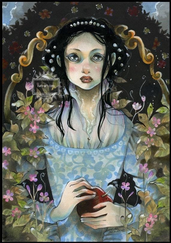 Snow White - Fairy Tale - MINI Print on Satin Photo Paper