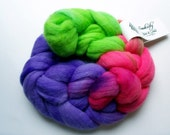 SWEET TART Polwarth Combed Top, 4oz. braid