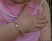Handstamped Sterling Silver Cuff Bracelet Little Girl or Toddler
