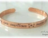 Handstamped COPPER Cuff Bracelet for Adults