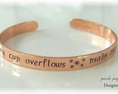 Hand Stamped Cuff Bracelet in COPPER YOUR TEXT