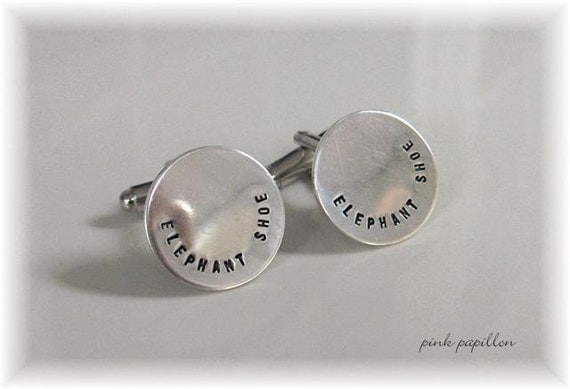 Fathers Day Custom Hand Stamped Sterling Silver CUFF LINKS