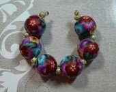 Floral Bouquet Bead Set - Round - Item 1072