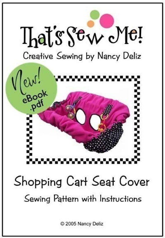 Shopping Cart Seat Cover Sewing Pattern eBook