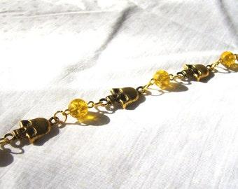 Golden Skull Bracelet