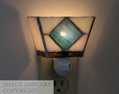 Stained Glass Night Light - Geometric - Lead Free