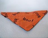 Over the Collar Dog Bandana- Halloween BOO size SMALL