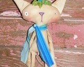 PeeWee the kitty Cat primitive folk art e-pattern So cute and funny