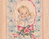 Vintage 1940s Congratulations To You All DOLLAR Greetings Card (B42a)