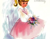 The Sweetest Little Girl Vintage Digital Greetings Card Download Images (225)