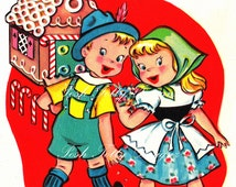 Hansel and Gretel and The Gingerbread House Vintage Digital Download Printable Images (196)