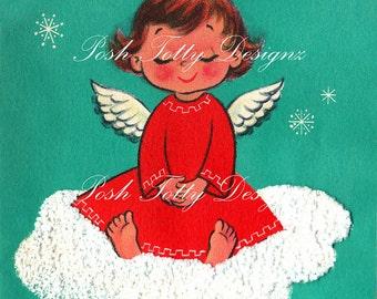 Mommy's Little Angel Vintage Greetings Card Digital Download Printable Images (86)