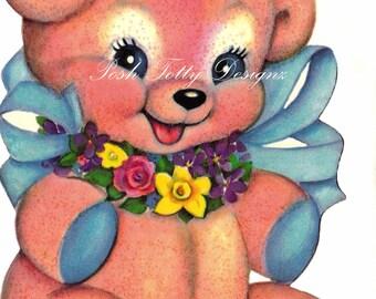 Little Teddy Bear 1940s Vintage Digital Download Images (139)