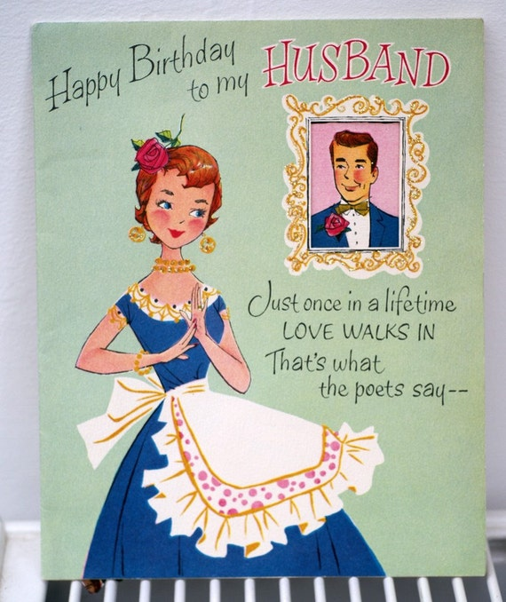 1940s Happy Birthday To My Husband Greetings Card – Happy Birthday Cards for My Husband