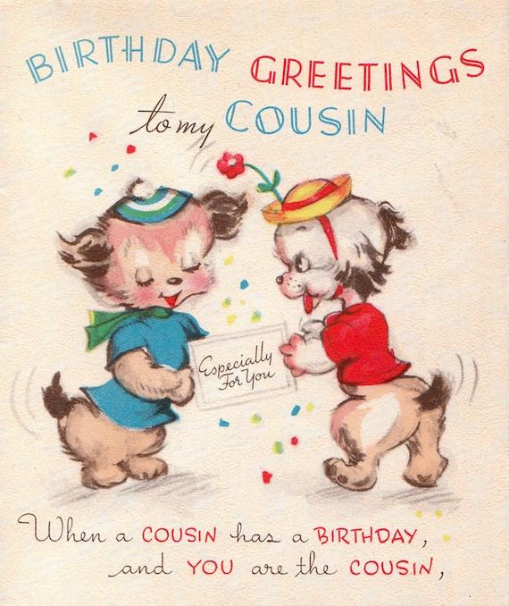 Items Similar To 1947 Birthday Trivia Game: Items Similar To Vintage 1950s Birthday Greetings To My