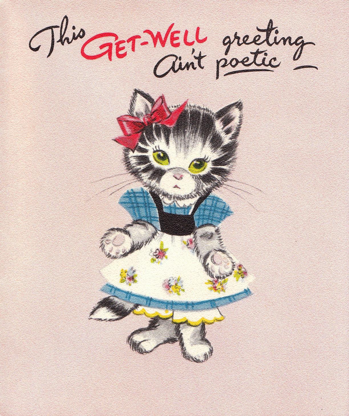 Vintage get well card