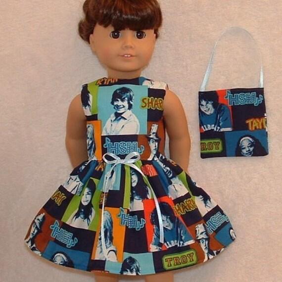American Girl Doll Handmade Dress High School Musical Design Includes Dolly Purse