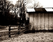 RESERVED for STYLMUM, Vintage Barn, signed 11x14,  archival print