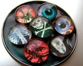 Eyes In The Dark -- SuperPowerful Odd Little Magnet Marblet Set - free US Shipping