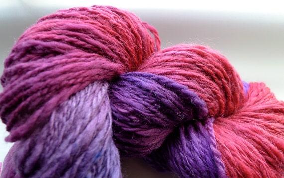 HOPELESS ROMANTIC (190 yards) Sweet Handdyed Worsted Wool Slub Yarn Hank