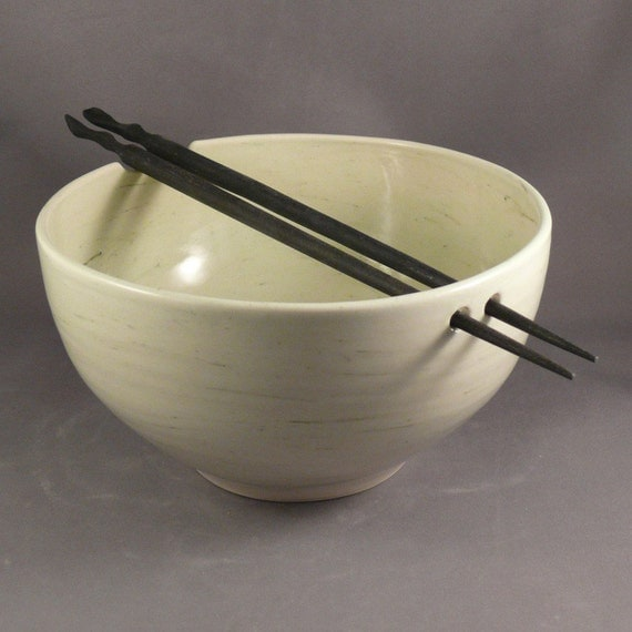 Handmade Rice Bowl with Chopsticks / Noodle Bowl