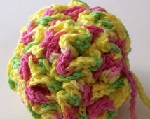 Crochet Bath Puff - Made to Order-Choose Your Own Color - Cleaning, Bathroom On Etsy