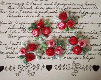 Petite Red Rosebud Appliques