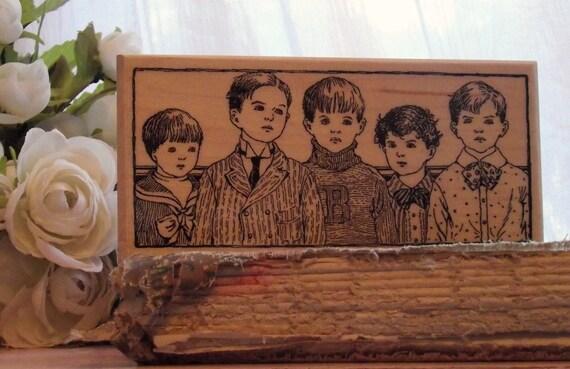 School Mates rubber stamp
