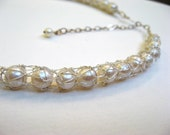 Trapped Pearl Necklace - Silver